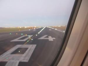 離陸。10時間の長旅の始まり。